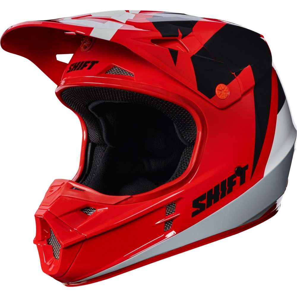 casque shift whit3 tarmac rouge 2017 moto and co. Black Bedroom Furniture Sets. Home Design Ideas