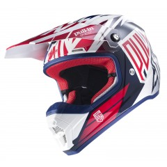 Casque PULL IN 2017 Bleu Blanc Rouge