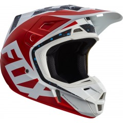 Casque FOX V2 ROUGE / BLANC