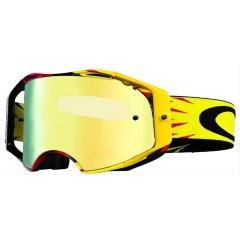 Lunettes MX Oakley Airbrake High Voltage Rouge Jaune