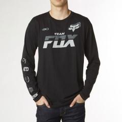 Tee Shirt Team Fox Maches longues Noir