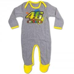 Pijama Valentino Rossi Gris Jaune