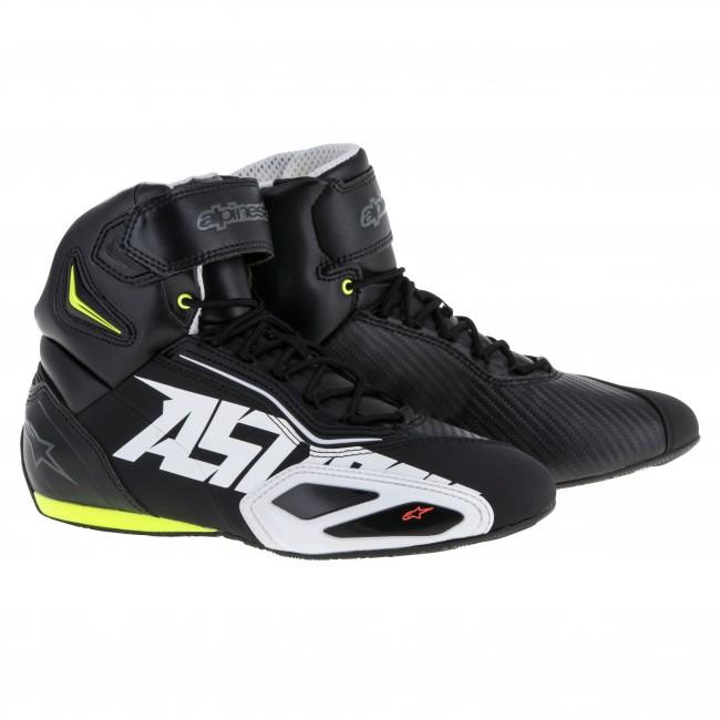 7ef4101cbf9 Basket Alpinestars Faster 2 Noir Blanc Jaune - Moto And Co