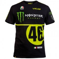 Tee Shirt Noir Vr46 Monster AGV