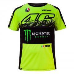 Tee Shirt Monster replica Fluo Jaune Valentino Rossi
