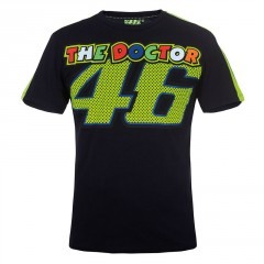 Tee Shirt Valentino Rossi Noir The Doctor 46