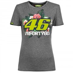 Tee Shirt Valentino Rossi Gris pour Femme