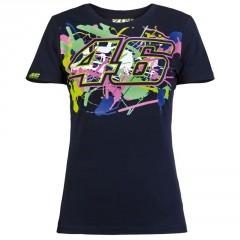 Tee Shirt Valentino Rossi Bleu pour Femme
