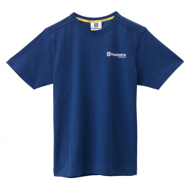 Tee Shirt Husqvarna Basic Bleu