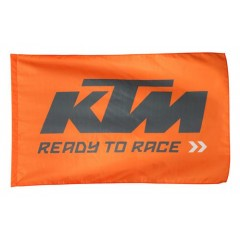 Drapeau KTM Ready To Race Orange