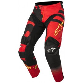 Pantalon Alpinestars Racer Braap Noir Rouge Jaune