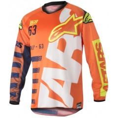 Maillot Alpinestars Racer Braap Orange Jaune Fluo