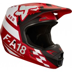 Casque FOX V1 Sayak Rouge