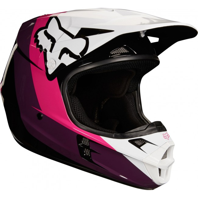 Casque Fox V1 2018 Halyn Noir Rose Moto And Co