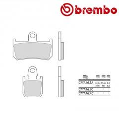 Plaquettes de frein avant Brembo 07YA46 SA métal fritté