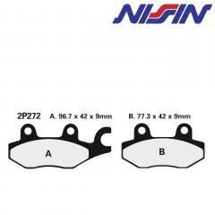 Plaquettes de frein avant Nissin 2P272NS semi-metallique