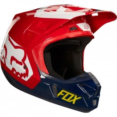 Casque FOX V2 Preme Navy Rouge