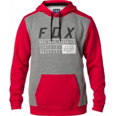 Sweat FOX District 3 Rouge Gris