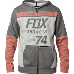 Sweat Zippé FOX Draftr Gris Rouge