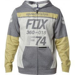 Sweat Zippé FOX Draftr Gris Jaune