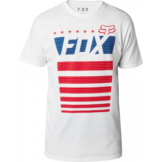 Tee Shirt FOX Red, White & True Tech