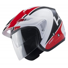 Casque Kenny Evasion Blanc Rouge