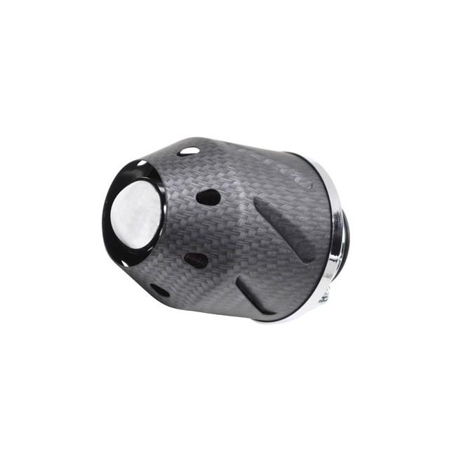 Filtre à air Replay Cylindrique carbone Fixation droite