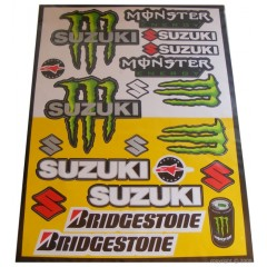 Stickers Suzuki Monster Bridgestone