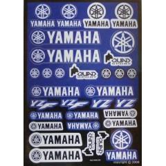 Stickers Yamaha Bleu