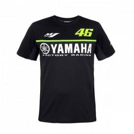 Tee Shirt Yamaha Noir Valentino Rossi 46