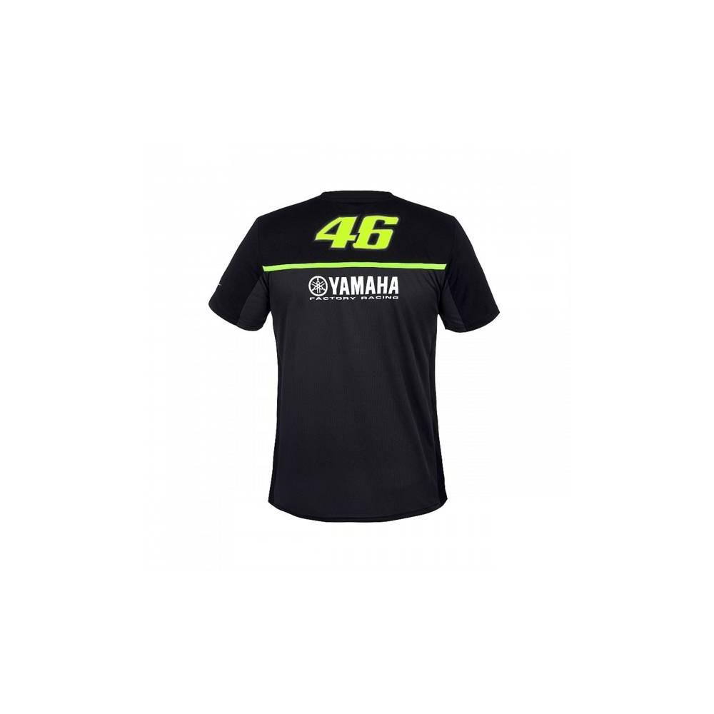 aa9a70e9f9e4 Tee Shirt Yamaha Noir Valentino Rossi 46 - Moto And Co