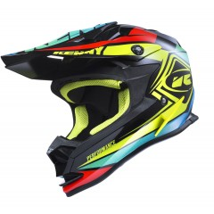 Casque Kenny Performance Noir Jaune Bleu