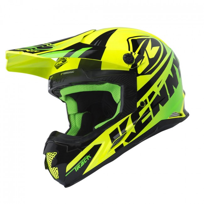 Casque Kenny Track Lime 2018 Moto And Co