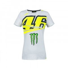 Tee Shirt Valentino Rossi Monster Blanc pour Femme
