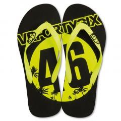 Tongs de couleur noir et jaune VR46