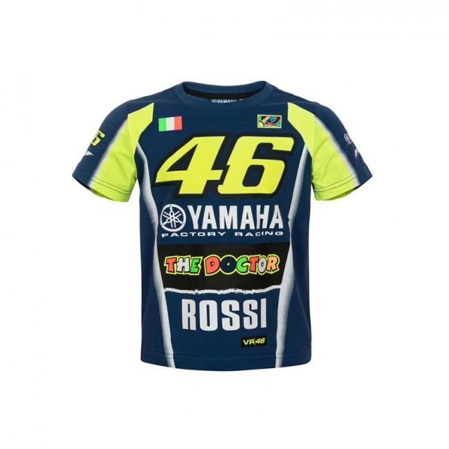 Tee Shirt Yamaha racing bleu VR46 - Moto