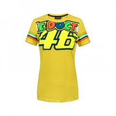Tee Shirt jaune Stripes femme VR46