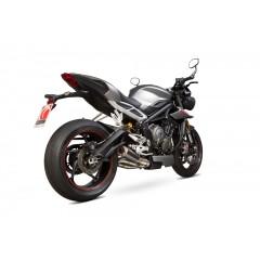 Silencieux Scorpion RP1-GP Carbone/Titane Triumph Street Triple 765