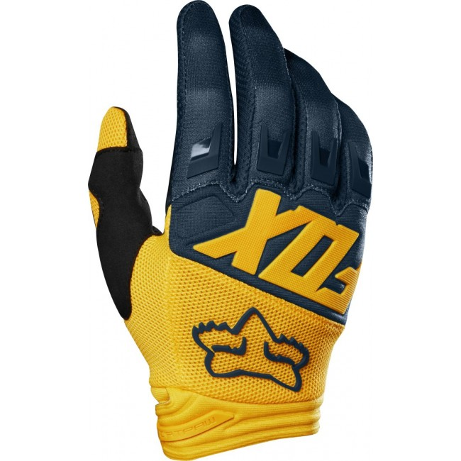 Gants FOX Dirtpaw Navy/Jaune 2019