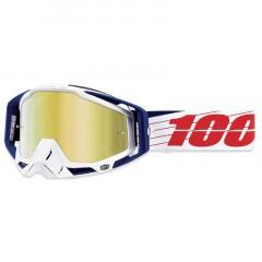 Lunettes MX 100% RACECRAFT Bibal Blanc