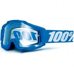Lunettes MX 100% ACCURI OTG Reflex Bleu