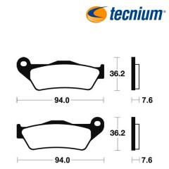 Plaquettes de frein TECNIUM MO171 métal fritté
