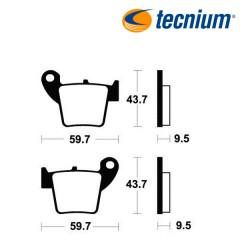 Plaquettes de frein TECNIUM MO277 métal fritté