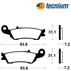 Plaquettes de frein TECNIUM MO340 métal fritté