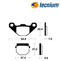 Plaquettes de frein TECNIUM MO44 métal fritté