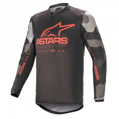 Maillot Alpinestars Racer Tactical 2021 rouge camo