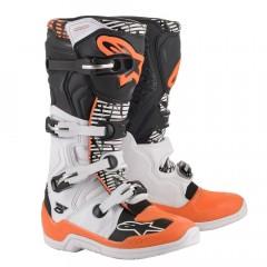Bottes Alpinestars TECH 5 Noir Blanc Orange