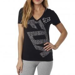 Tee Shirt Fox Angled Noir pour Femme