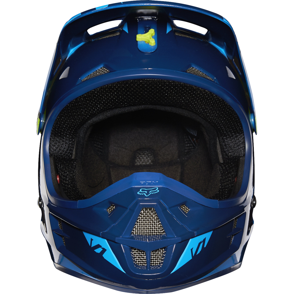 casque fox v1 2016 race bleu moto and co. Black Bedroom Furniture Sets. Home Design Ideas